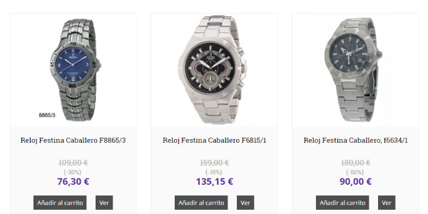 Comprar relojes Festina y marketing online